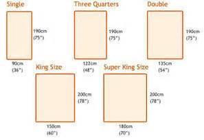 Bed measurements dimensions info