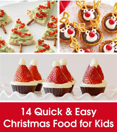 quick easy christmas food for kids