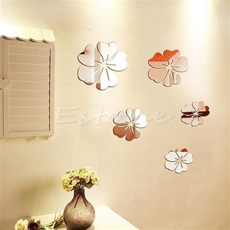 Mirror Decals Home Decor by Aliexpress Com Buy New Mirror Style Flowers