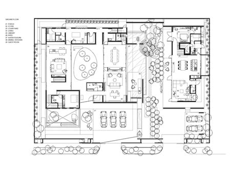 layout plan in chinese modern villa design with chinese garden philosophy