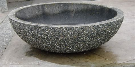 Precast Concrete Planters by Bowl Planters Exposed Aggregate Concrete Mackay