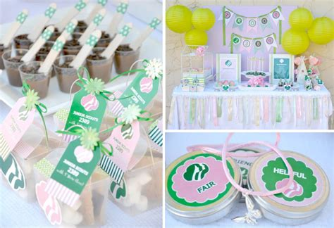 themes for girl scout kara s party ideas girl scouts party planning ideas