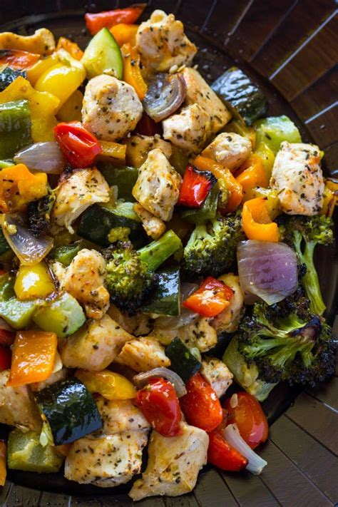 15 minute healthy roasted chicken and veggies one 16 best gimme delicious images on