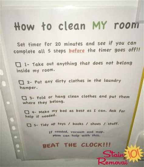 bedroom chore list bedroom cleaning checklist help kids know expectations