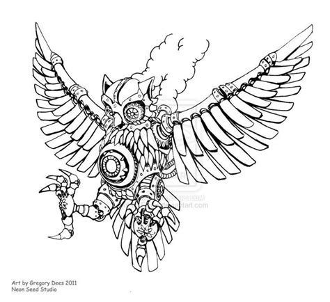 owl tattoo line drawing 268 best steunk animals images on pinterest owl