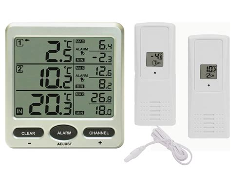 funk wanduhr digital groß funk thermometer ft0075 mit 2 funksensoren lcd display min