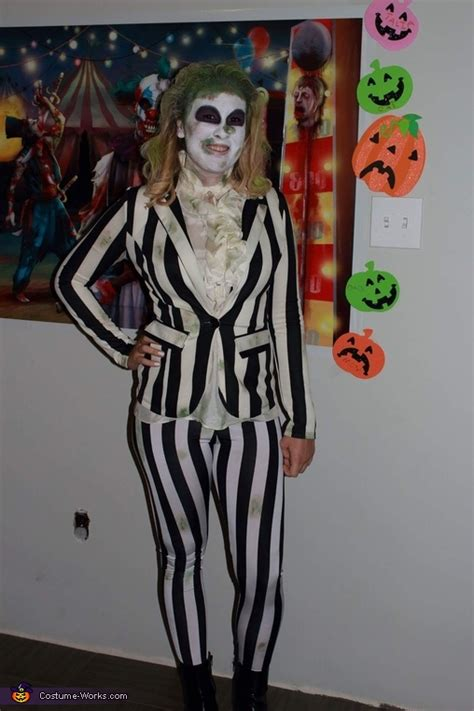 beetlejuice womens homemade costume