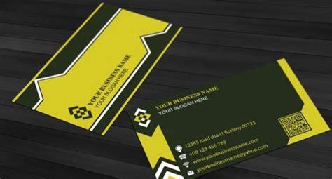 plain business card template psd simple design business card template in yellow psd file