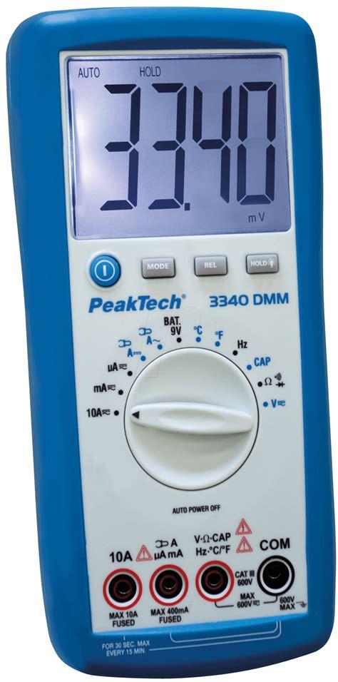 Multimeter Elektronik Peaktech 3340 Digital Multimeter At Reichelt Elektronik