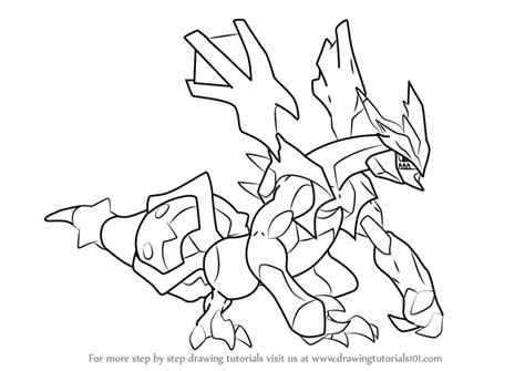 pokemon coloring pages black kyurem learn how to draw black kyurem from pokemon pokemon step