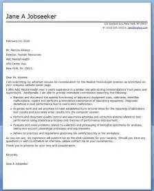 medical technologist cover letter examples resume downloads