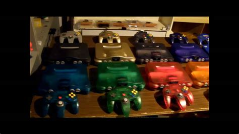 n64 console colors the collection of nintendo 64 consoles all 16 color