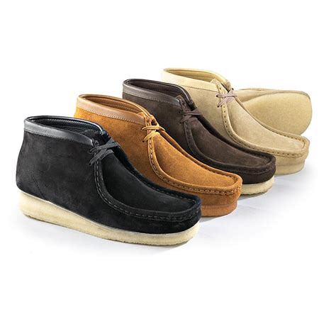 boys clarks wallabee boot s clarks 174 suede wallabee boots 126785 casual shoes
