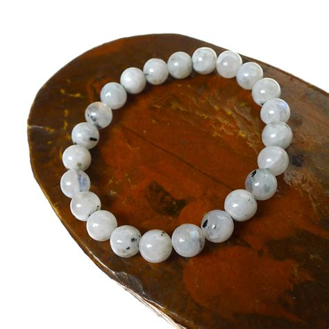 moonstone bead bracelet rainbow moonstone bracelet with tourmaline beaded stretch