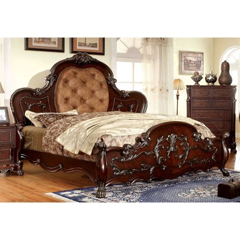 Tufted California King Bed by Furniture Of America Coppedge California King Traditional