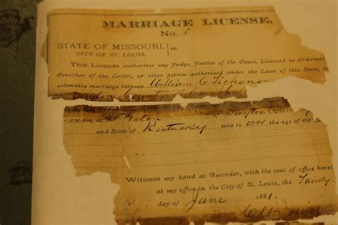 Missouri Marriage License Records Inside The City S Quot Vault Quot Cardinals 1917 Incorporation Papers And More Photos