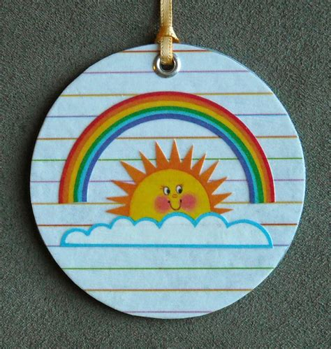 crafter without a cat rainbow ornament