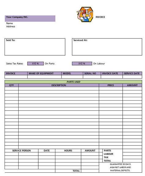 7 plumbing invoice free sle exle format download