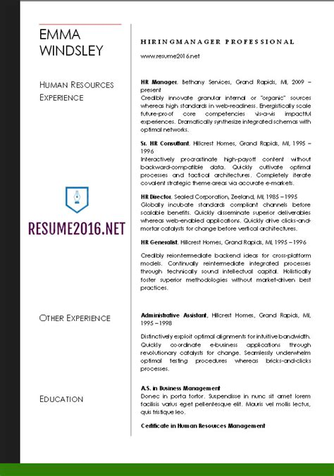 word resume templates 2016