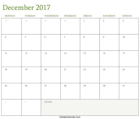 Calendar Template 2017 November December Blank December 2017 Calendar Template Word Pdf