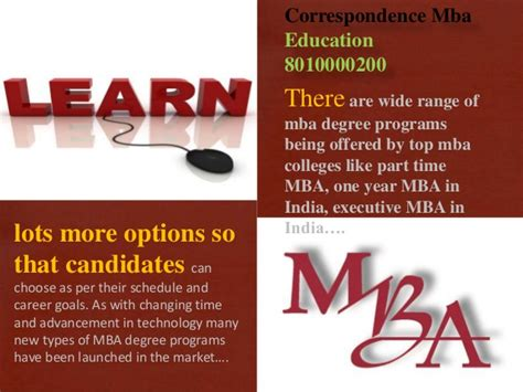 Mba Distance Learning Part Time by 8010000200 Distance Learning Executive Mba