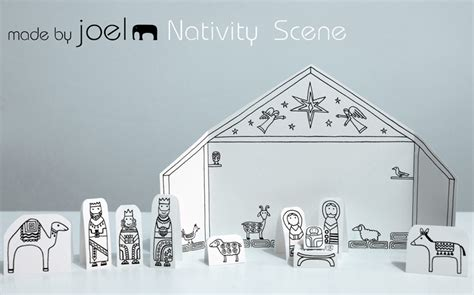 Printable Paper Nativity Scene | search results for nativity templates to colour printable