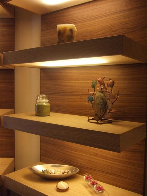 custom built floating shelves custom made lighted floating shelves by ecostruction llc