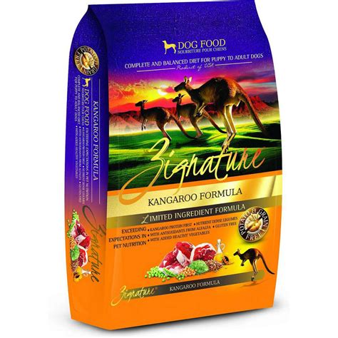 zignature puppy food zignature kangaroo food whitedogbone