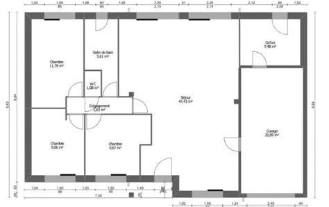 plan de maison 3 chambres salon plan et photos maison 3 chambres de 88 m 178