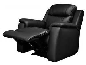 fauteuil relax en cuir de vachette coloris noir evasion