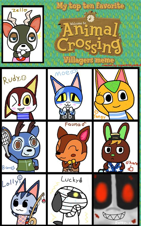 Animal Crossing Villager Meme - favorite animal crossing villagers meme by pawniards on