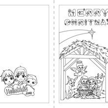 nativity card template word nativity coloring pages hellokids