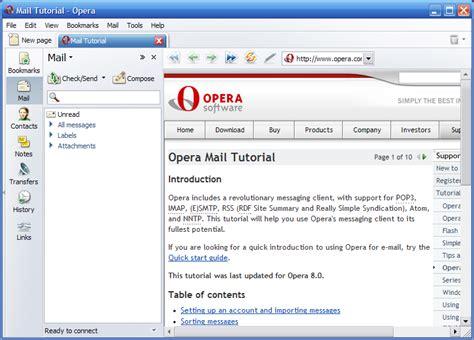 membuat email opera mini opera mail opera mail client