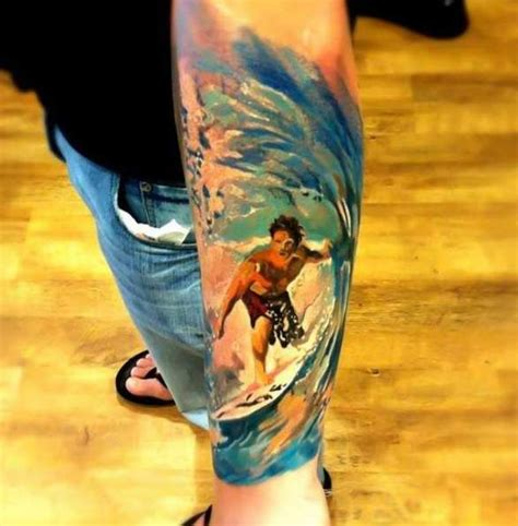 surf tattoo surfing tattoos tattoos watercolors