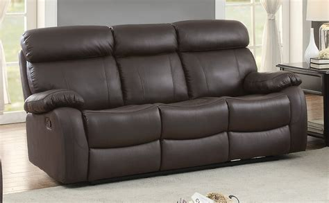 brown leather reclining sofa homelegance pendu top grain brown leather reclining sofa