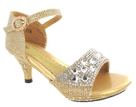 Heel Sandals For Wedding by Wedding Sandals Low High Heel Diamante