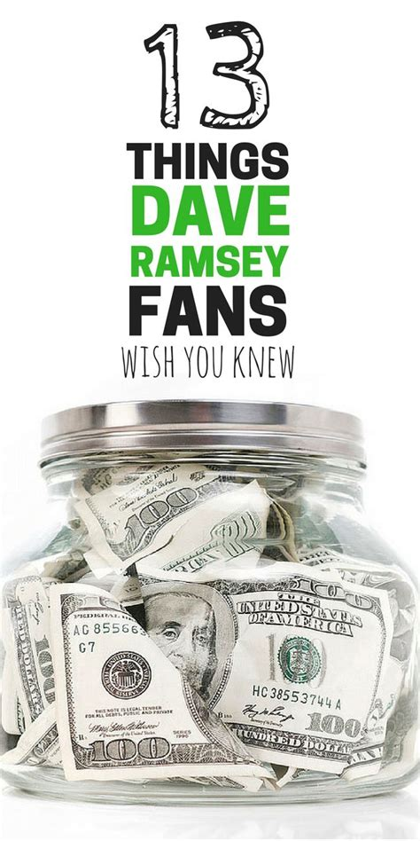 dave ramsey fans   knew dave ramsey