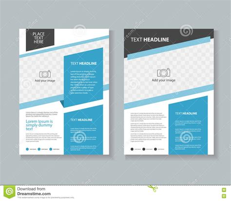 leaflet design layout brochure flyer leaflet layout design template stock