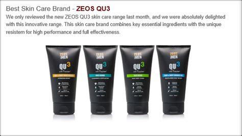 best skincare range zeos qu3 wins awards best skincare range 2015