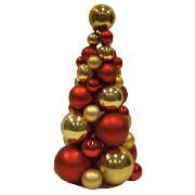 christmas trees tesco red gold bauble tree