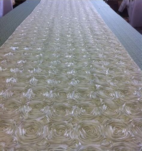 52 inches in feet custom made ivory tafetta rosette aisle runner 22 feet