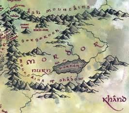 map of mordor lind 235 firion wiki mordor