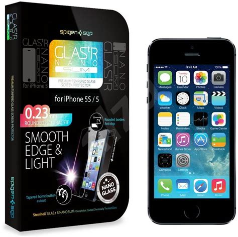Jual Spigen Tempered Glass Iphone 5s spigen screen protector glas tr nano slim iphone 5 5s 5c tempered glass alzashop