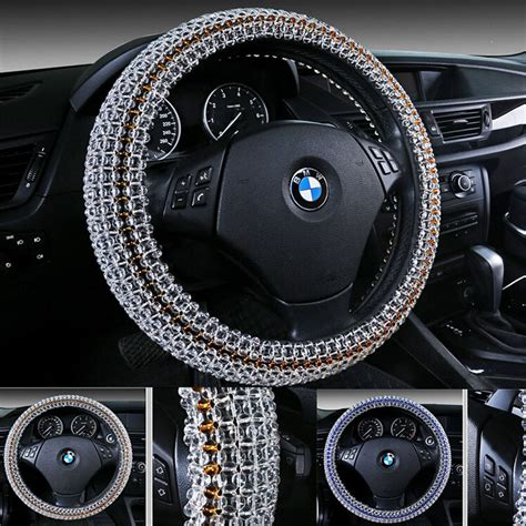 universal car steering covers rhinestone covered steering