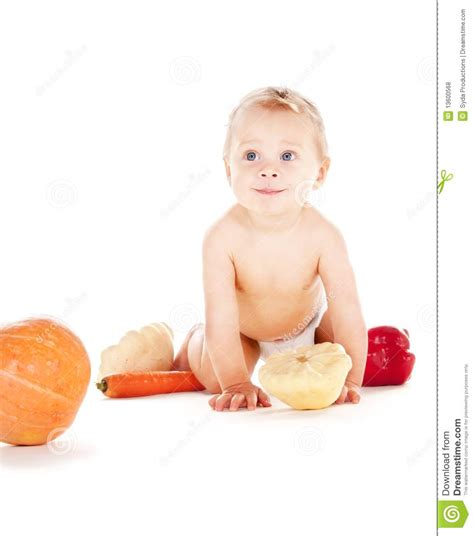 vegetables boys baby boy with vegetables royalty free stock photography