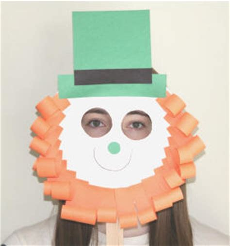 leprechaun mask template leprechaun paper plate craft no template version