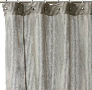 Linen Shower Curtains Linen Stripe Cotton Shower Curtain Contemporary Shower Curtains By Overstock