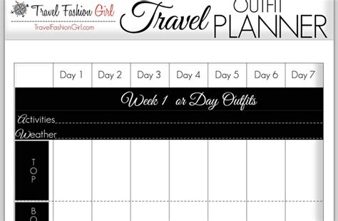 printable outfit planner how to plan your travel outfits 5 style tools show you how