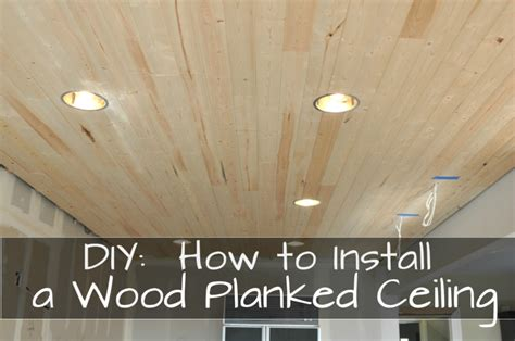 Amazing Wood Ceiling In Kitchen #2: DIY-how-to-install-a-wood-planked-ceiling.jpg