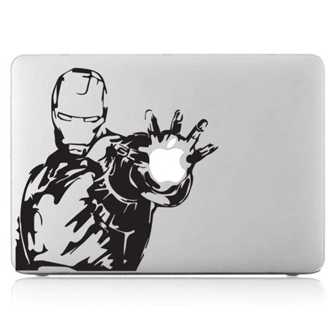 Macbook Aufkleber Marvel by Iron Laptop Macbook Sticker Aufkleber